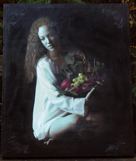 Elizabeth with fruit as encaustic