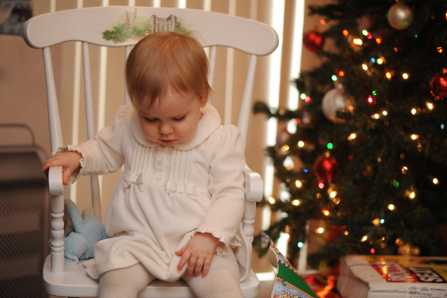Felicity Christmas 2012 in rocking chair