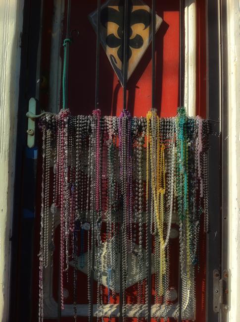Beads on door