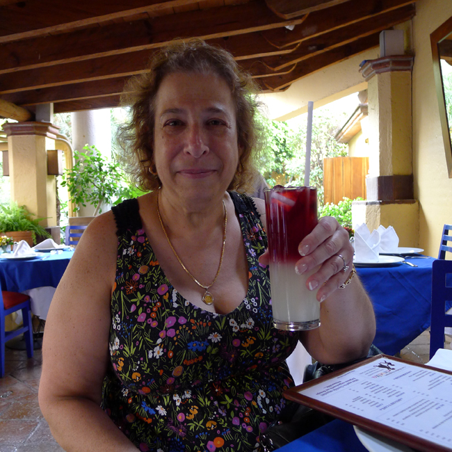 Mona with sangria