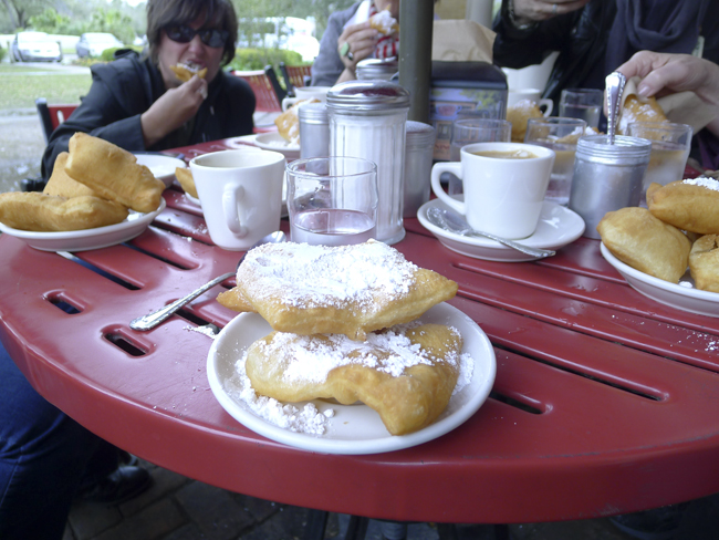 Beignets at sculpture garden