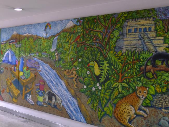 Mural at airport