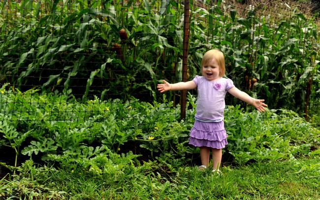 Felicity and the summer garden