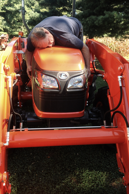 Rick bonding with new Kubota