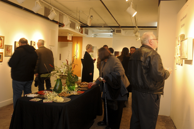 Reception at December show