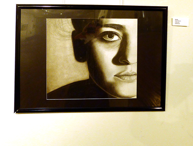 Charcoal work by Hope Martin small