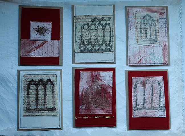 Collection of handsewn cards small