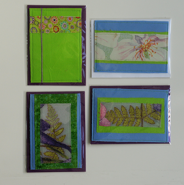 Fabric cards spring green
