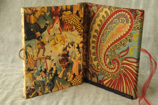 Sketch book inside clown