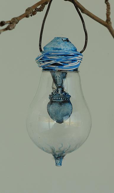 Christmas ornament blue heart