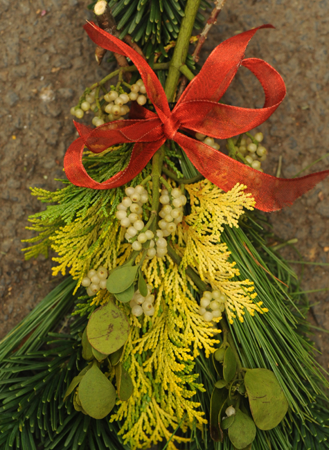 Mistletoe in Christmas arrangement