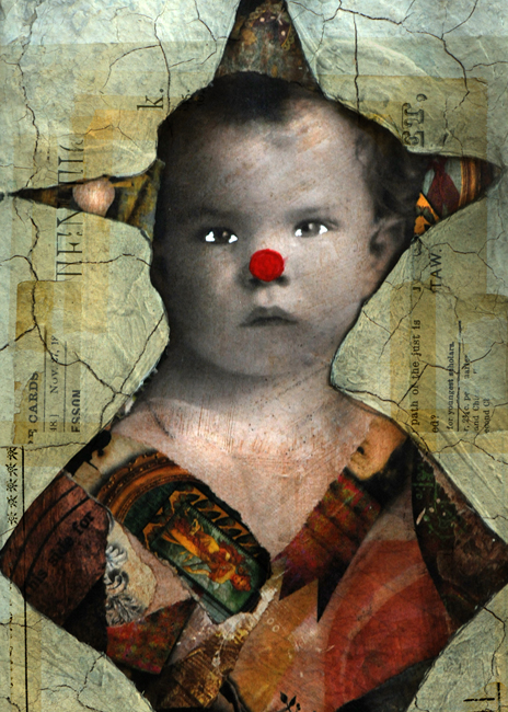 Collage baby clown