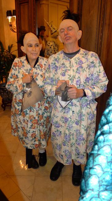 Kathy and Bob Gould as Pinheads