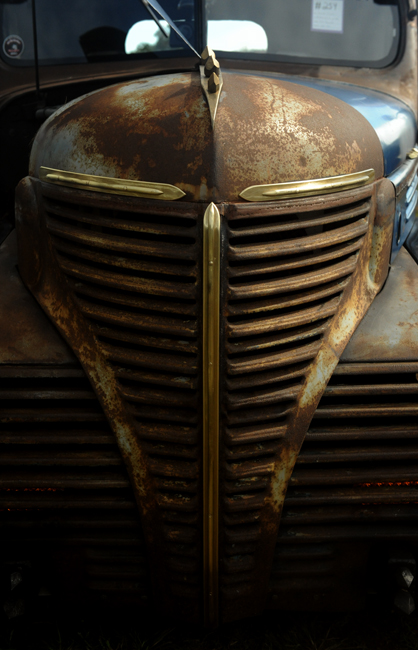 Fancy grill on rat rod
