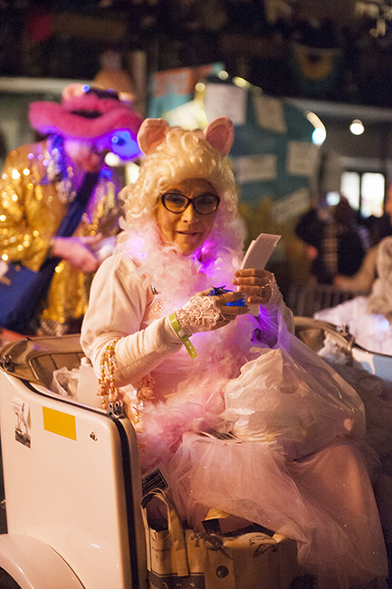 Cat lady in Krewe parade