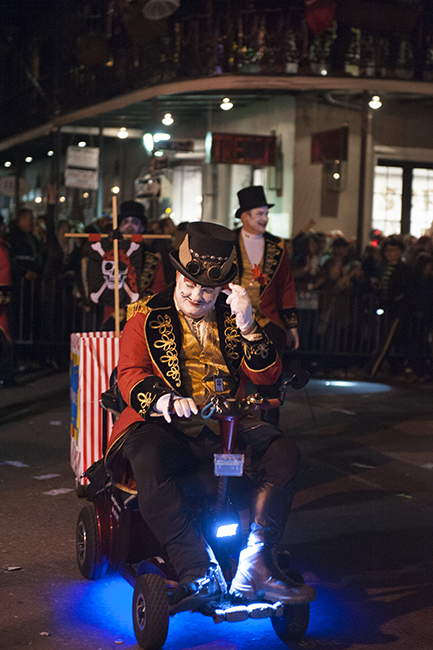 Steam punk man in Krewe parade