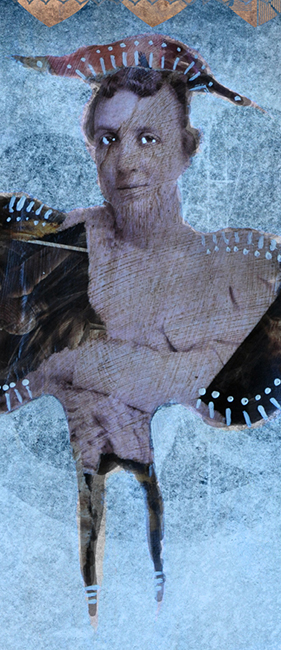 Collage butterfly woman