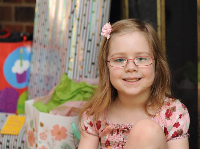 Felicity on her 5th birthday