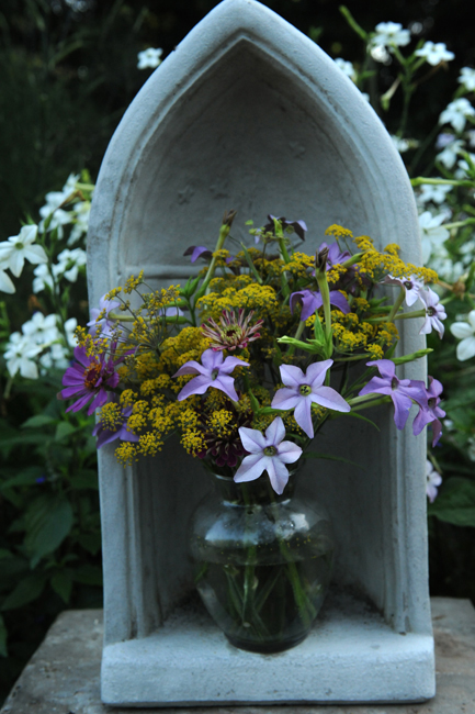Flower arrangement in shrine