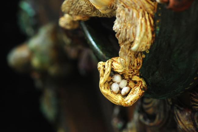Assemblage 'Rip Van Winkle' detail eggs