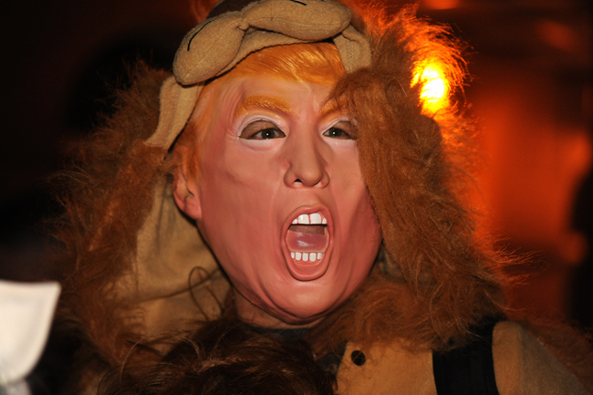 Trump costume at Krewe Du Vieux 2017