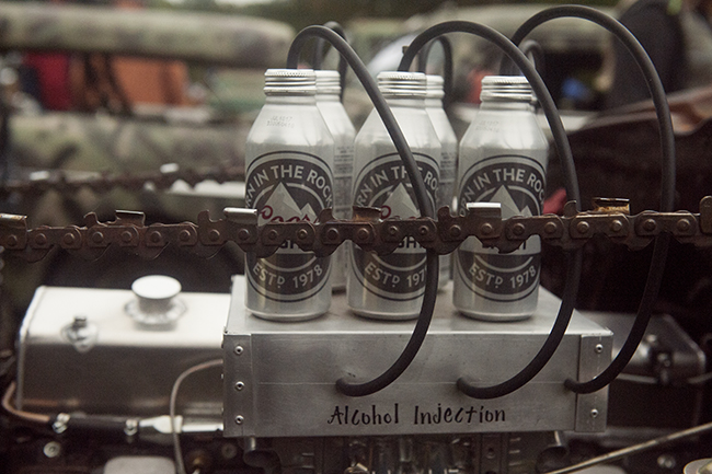 Alcohol injection engine