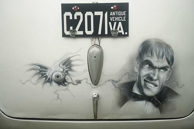 Lurch painted on car trunk
