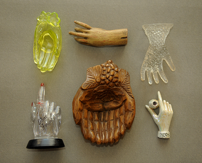 Grandma Lanna's hand collection wood and glass