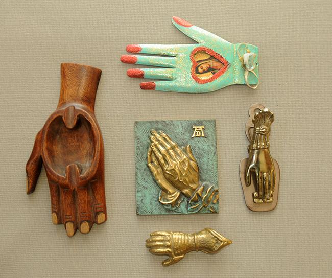 Grandma Lanna's hand collection with praying hand