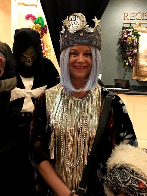 Tarot card costum Kristen Penrod as The Hight Priestess