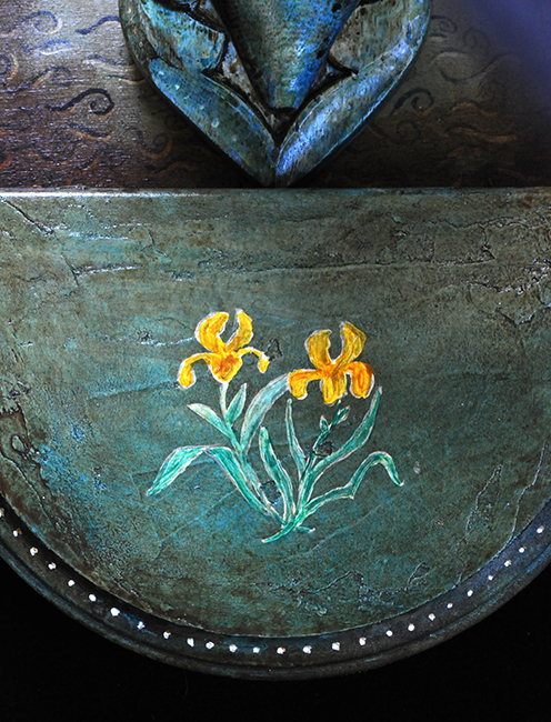 Assemblage yellow water iris detail on Temperance