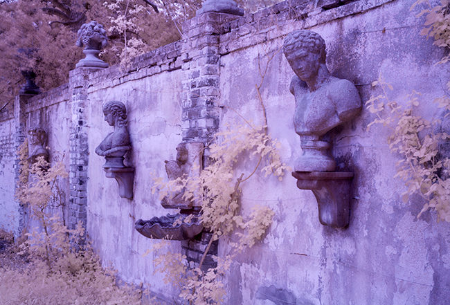 Catham manor wall with busts