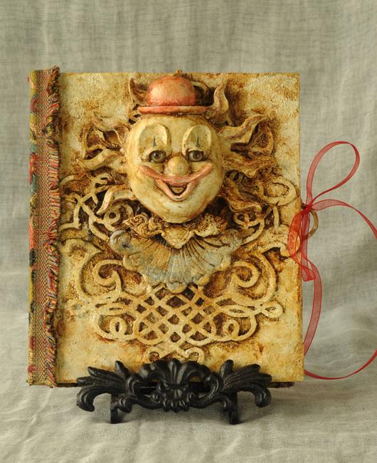 Sketch book cover clown