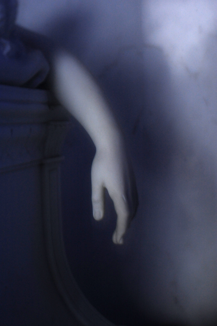 Grieving angel's hand