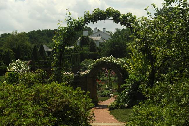 House and rose garden at Ladew Topiary Gardens