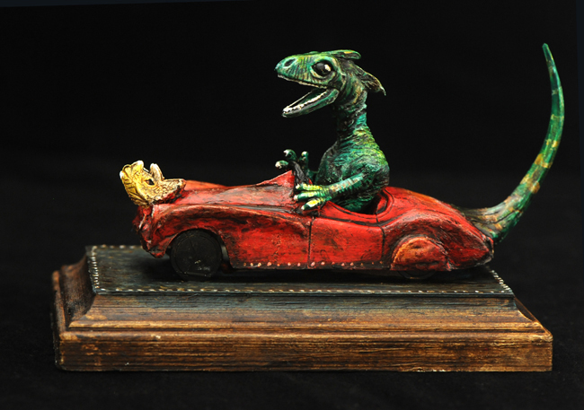 Assemblage Gecko in a Jalopy