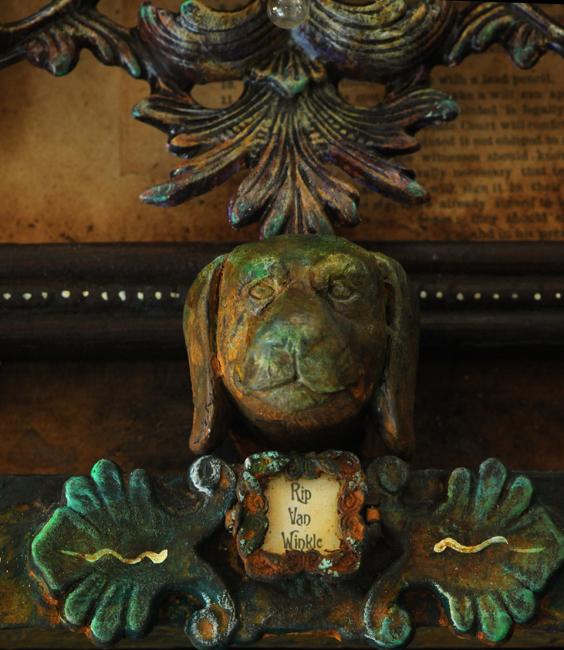Assemblage 'Rip Van Winkle' detail dog