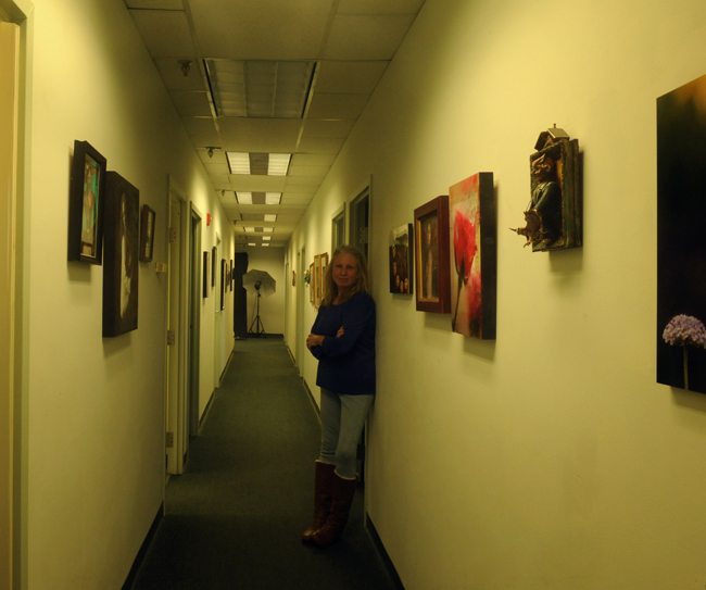 Hallway at studio