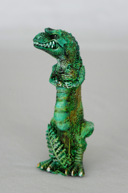 Altered Pez dispenser Tyranosaurus rex
