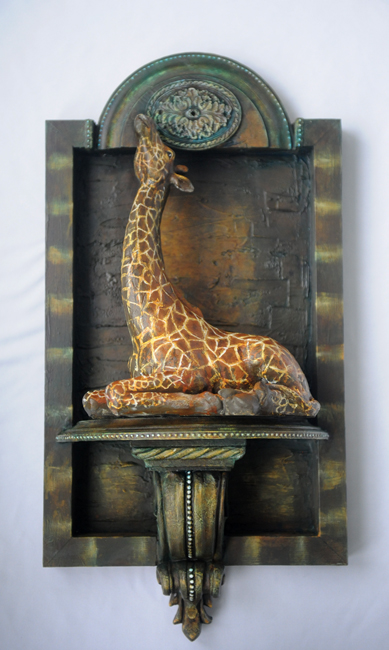 Assemblage giraffe Elevated View