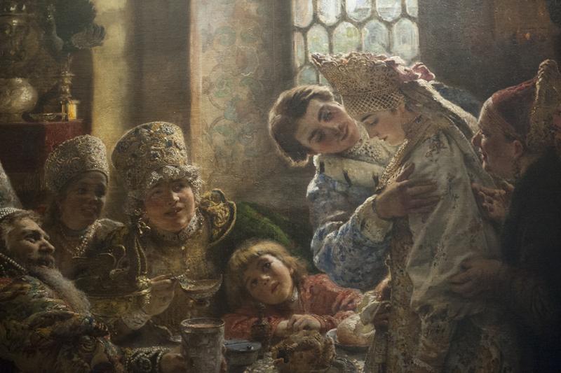 Painting A Boyar Wedding Feast at Hillwood