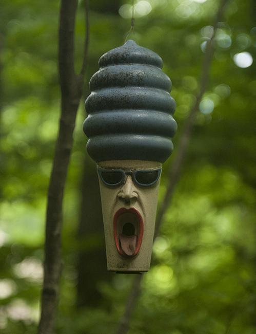 Bird house in the garden of Jeff Minnich