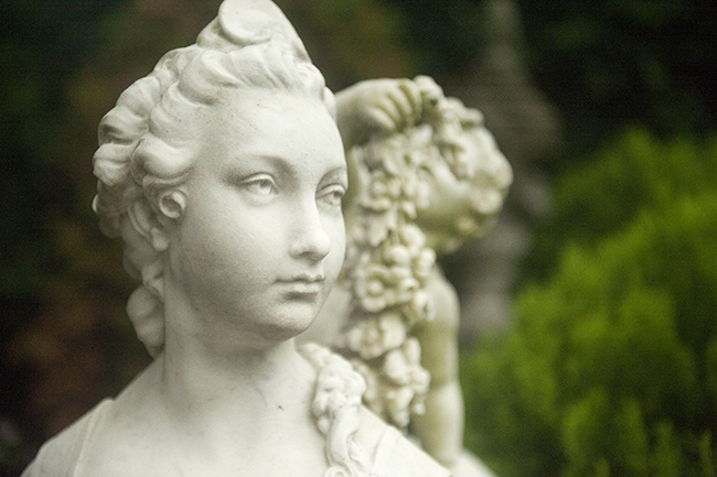 Marble sphinx at Hillwood