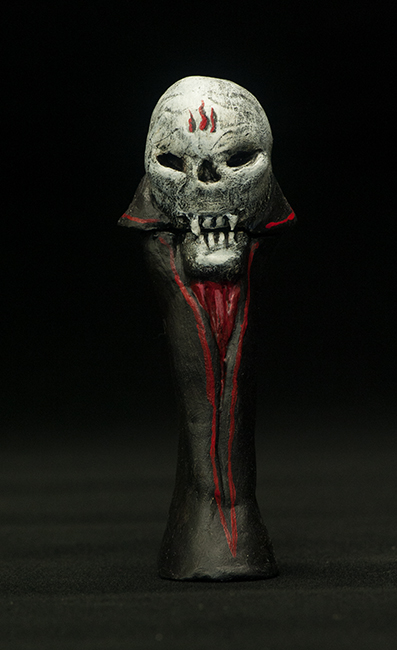 Altered Pez dispenser vampire