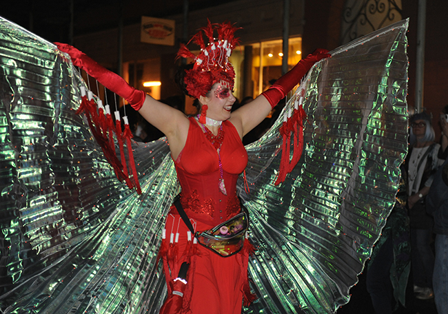Parade Krewe du Veiux winged lady