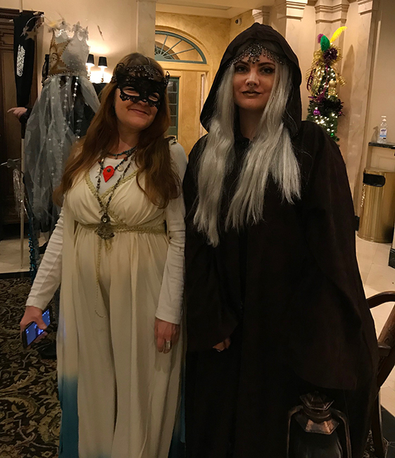 Tina and Stacey in Tarot Card costume