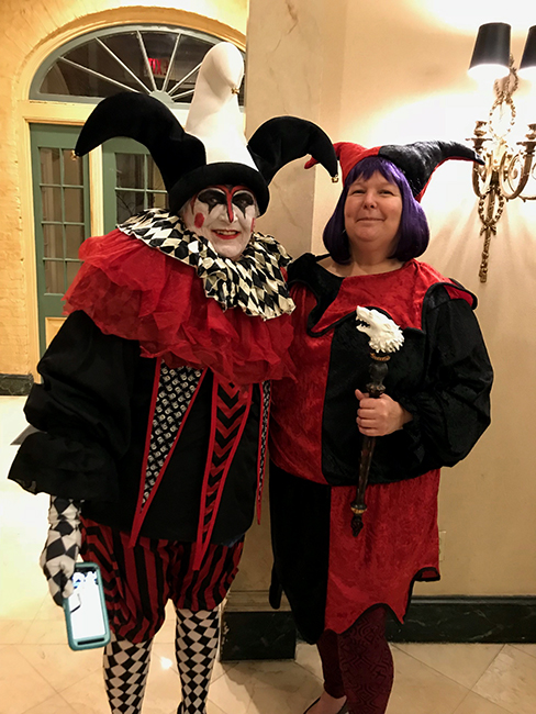 Tarot card costume Lynn Ovenden and Sharon Ross