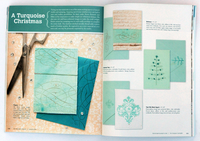 Magazine spread Stampers Sampler