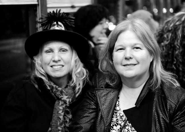 Karen Rexrode and Sharon Ross on street