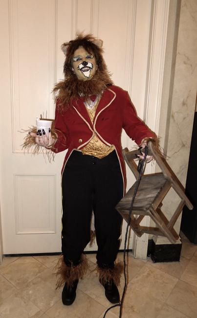 Joanne Wotypka as a lion tamer